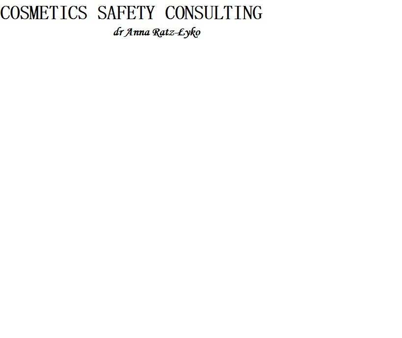 Logo Cosmetics Safety Consulting
