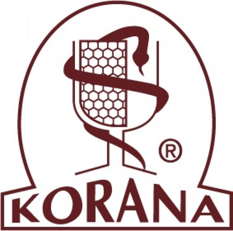 Logo KORANA Sp.J.  Producent Kosmetyków Naturalnych  N.H.A. Nicpoń, M. Bielesz